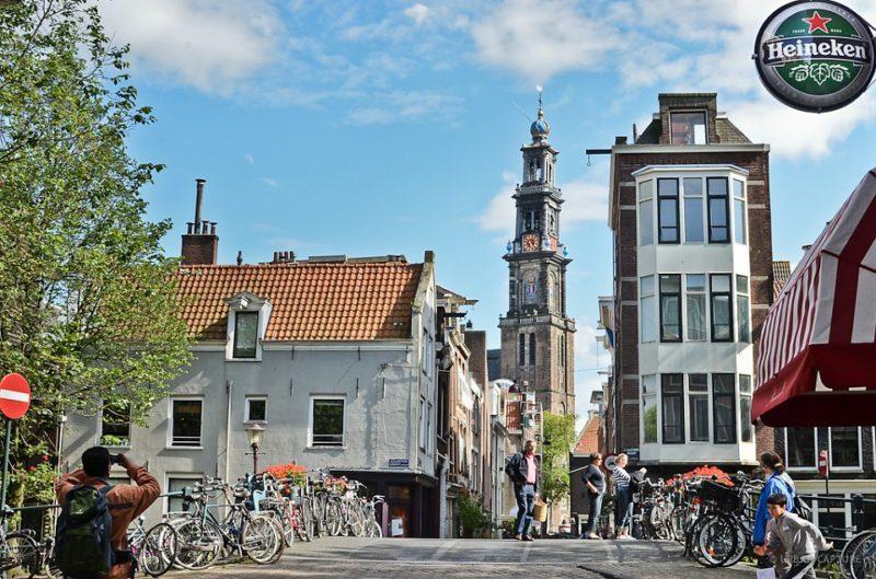 A Rua Tweede Angeliersdwarsstraa, no Jordaan, em Amsterdã