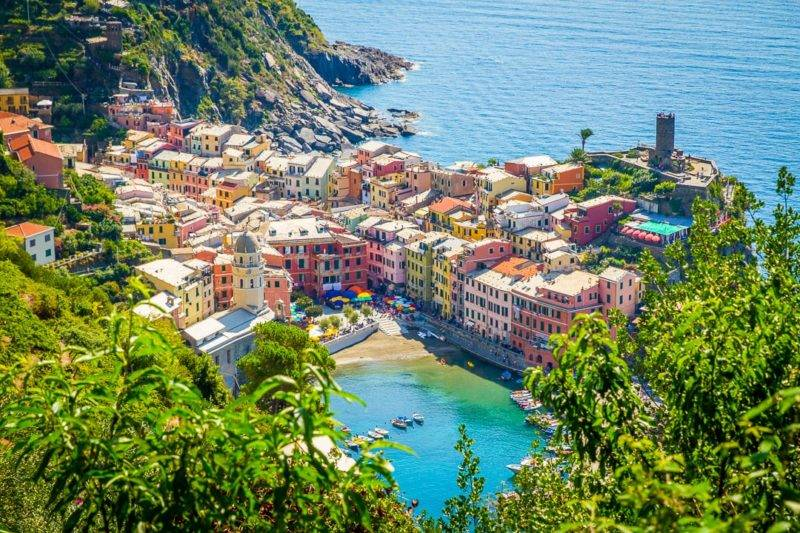 Cinque Terre o que fazer: Cidade linda de Vernazza.