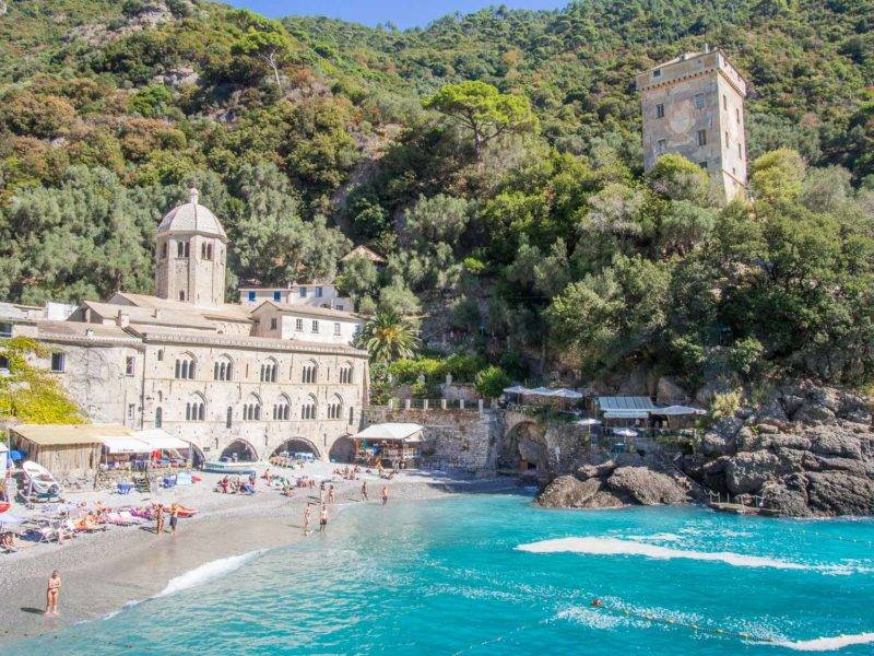 O que fazer em Portofino: a praia da Abbazia di San Fruttoso