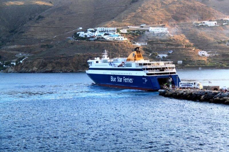 Como chegar em Amorgos: Blue Star Ferries em Amorgos.