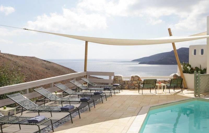 Onde se hospedar em Astypalea: Vista do Pylaia Boutique Hotel & Spa.