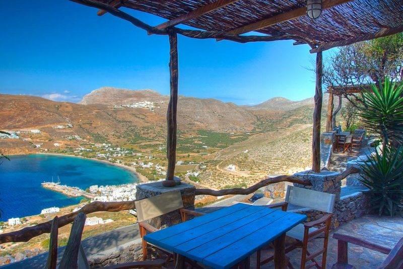 Onde ficar em Amorgos: Vista do Pano Gitonia.