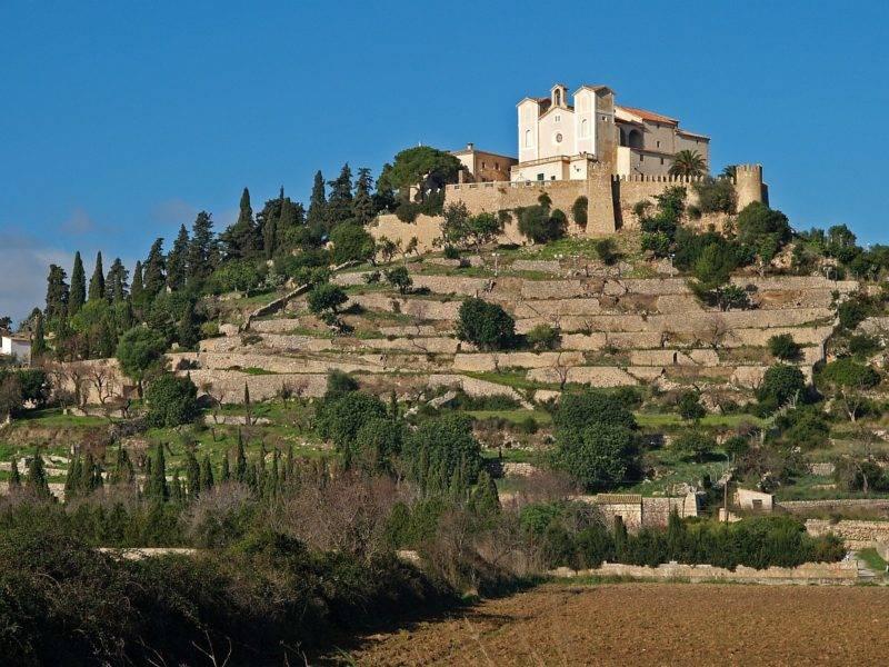 Igreja da Artà em Mallorca.