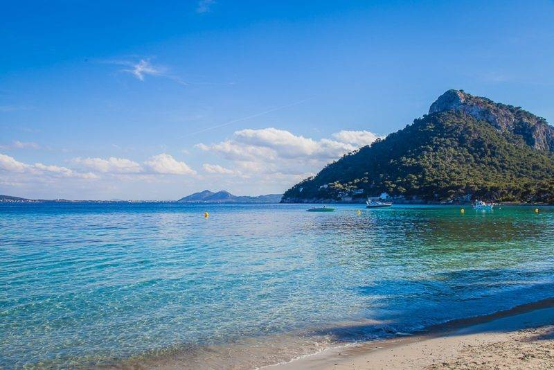 Praias de Mallorca: Platja de Formentor.