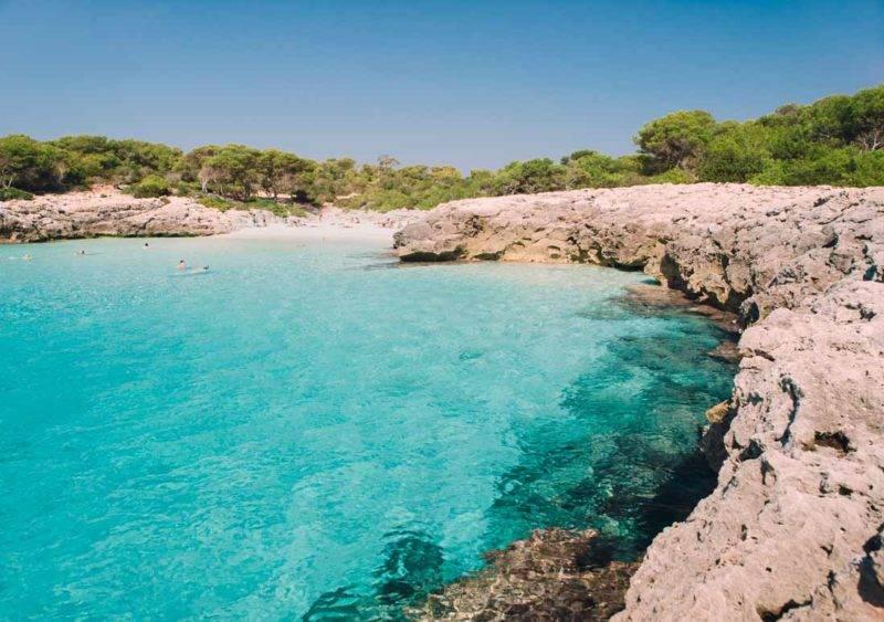 Menorca dicas: o mais cristalino da Cala des Talaier.