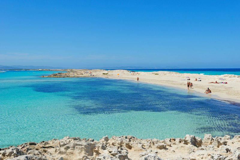 Praias de Formentera: a linda Ses Illetes.