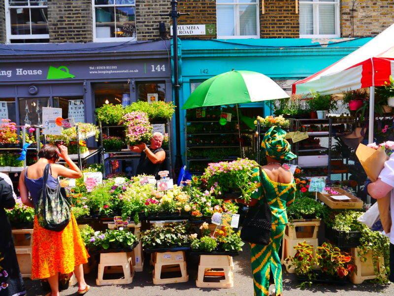 Dicas de Londres: o colorido Columbia Flower Market.
