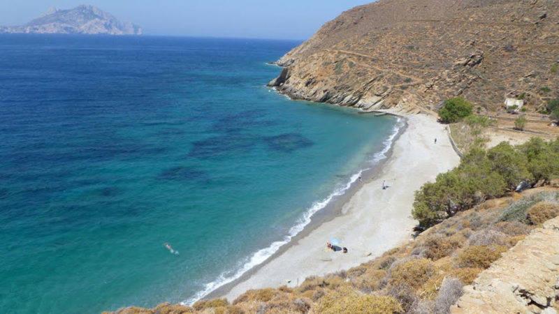 Intocada Psiliamos Beach em Amorgos.