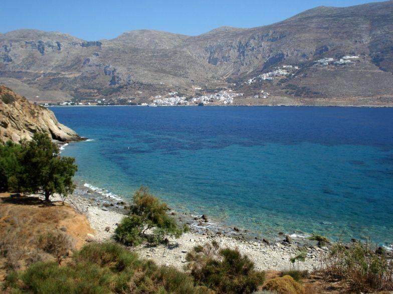 O que fazer em Amorgos: Xoklakas Beach.