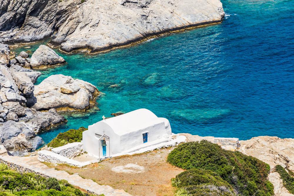 Roteiro Ilhas Gregas: praia da Agia Anna, em Amorgos