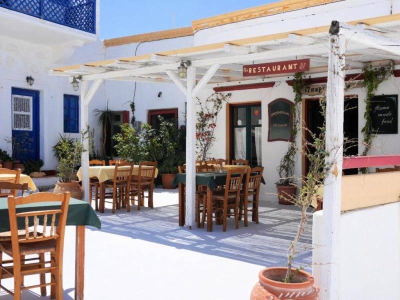 O clássico restaurante Barbarossa, em Astypalea.
