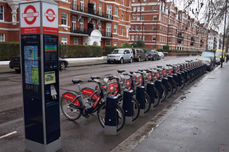 Verão em Londres: as estações para aluguel de bicicleta.