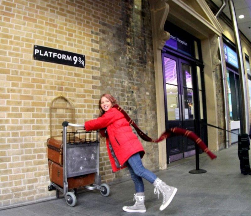 O que fazer em Londres no verão: Juju no King's Cross Station, onde fica a Plataforma 9 3/4.