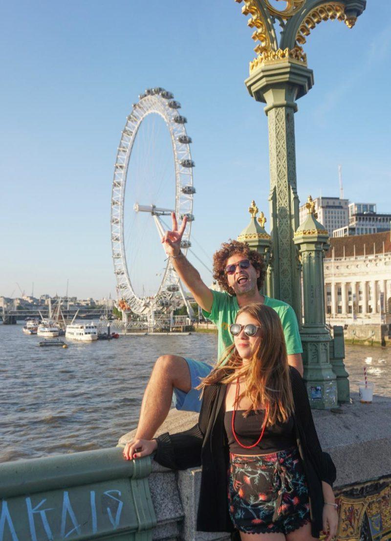 A London Eye no fim da tarde, com uma luz deliciosa