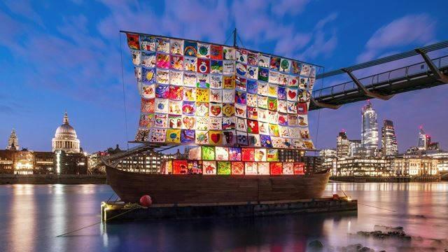 Exposição do Totally Thames, em Londres.