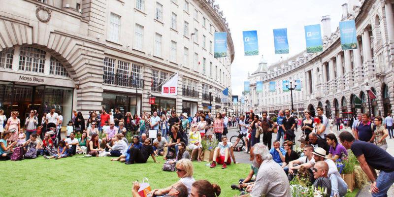 Verão na Regent Street