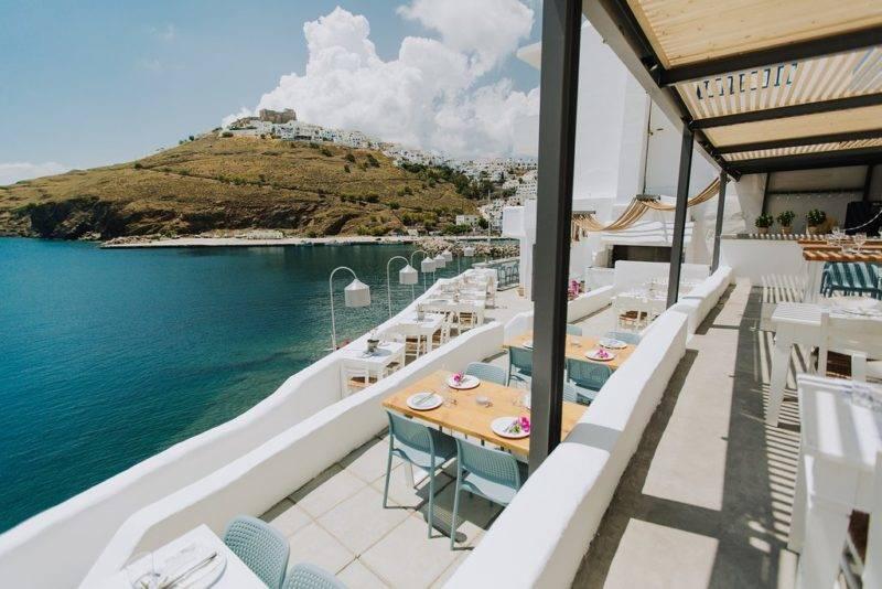 Onde comer em Astypalea: Vista do Akti Restaurant.