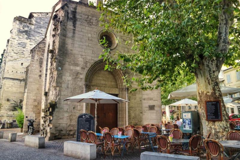 Construções medievais de Avignon, em França.