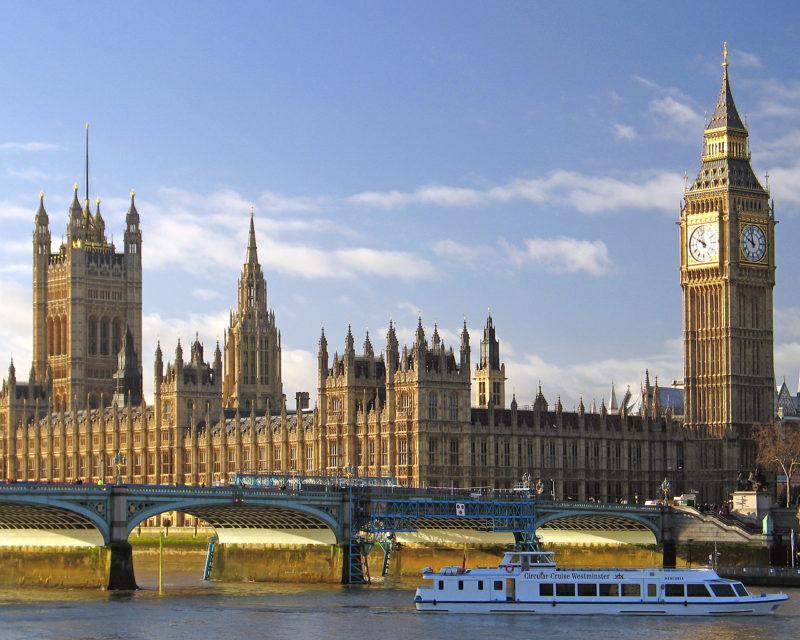 Viagem Londres: Big Ben e o Parlamento de Londres.