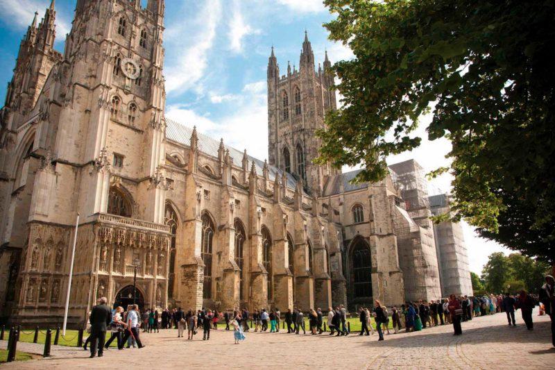 Imponente Catedral de Canterbury.