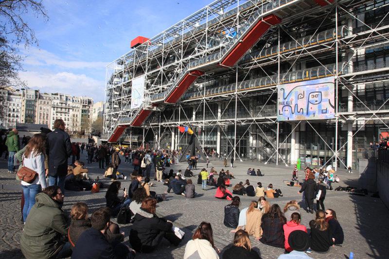 Roteiro Paris: Centro Pompidou cheio!