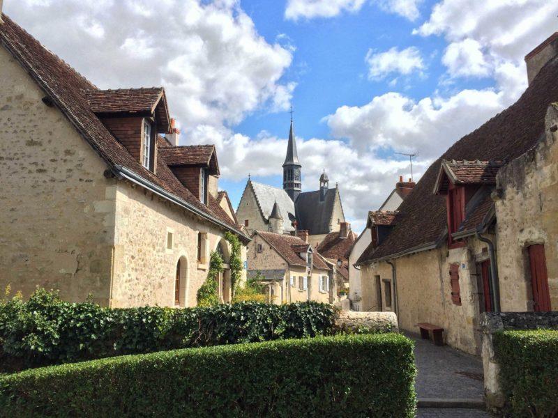 Casas medievais em Montrésor, na França.