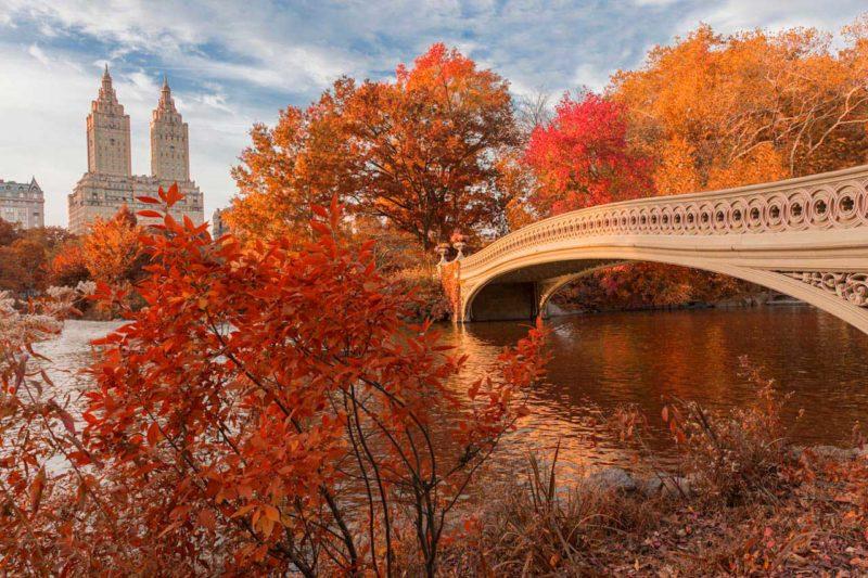 Para onde viajar em outubro: outono em Nova York.