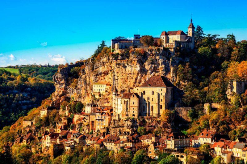 Cidade de Rocamadour, na França.