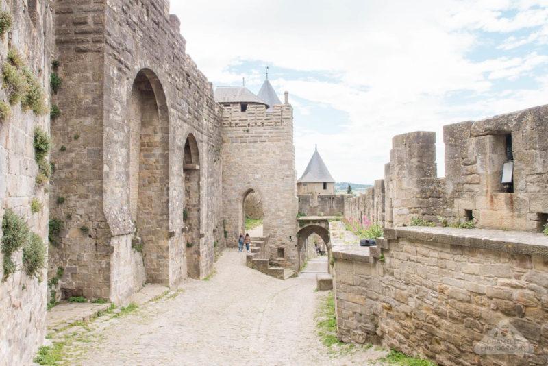 As muralhas de Carcassonne, na França.