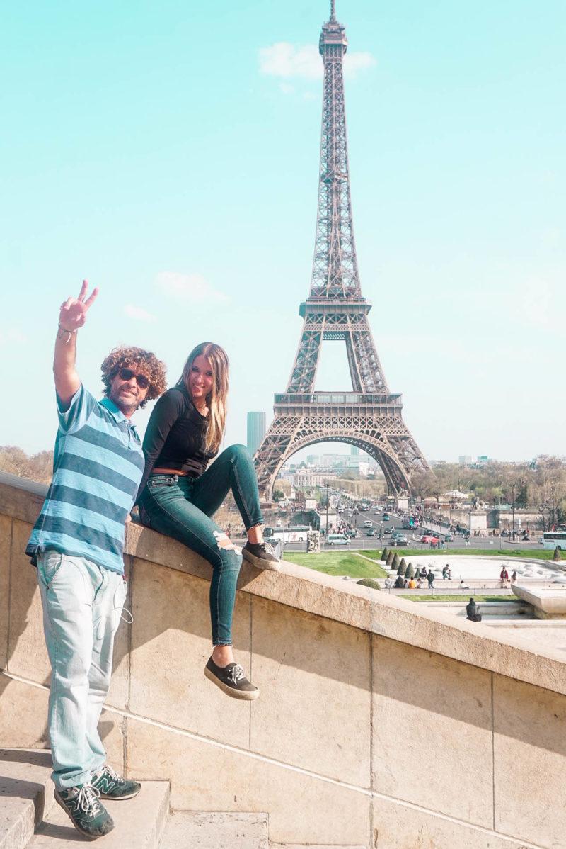 O que fazer em Paris: Vista da Torre Eiffel a partir do Trocadero.