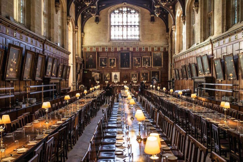 O que fazer em Oxford: a sala de jantar de Hogwarts no Colégio Christ Church.