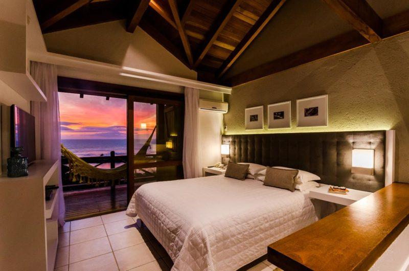 Quarto do Solar Mirador Exclusive Resort e SPA, na Praia do Rosa.