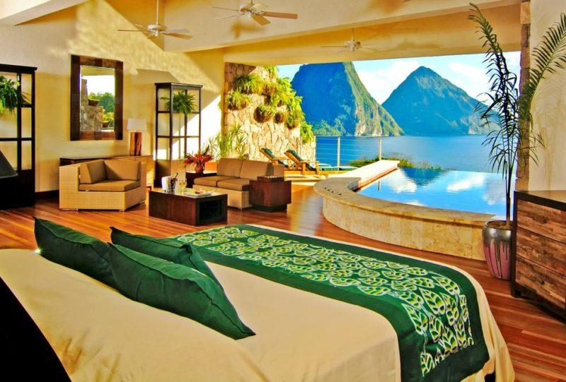 Onde ficar em St. Lucia: Jade Mountain.