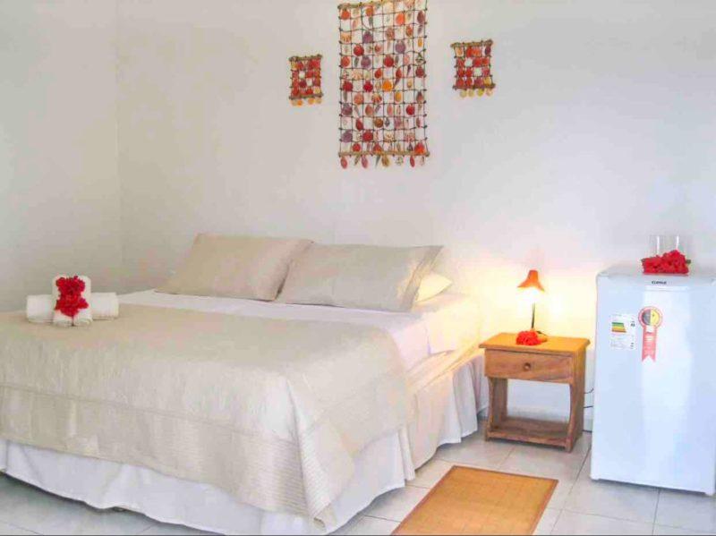 Airbnb em Noronha: quarto com toda estrutura e conforto