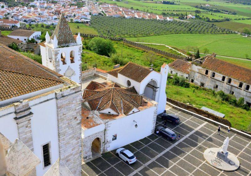 Alentejo dicas: Vista da Torre da Rainha Santa Isabel, em Estremoz.