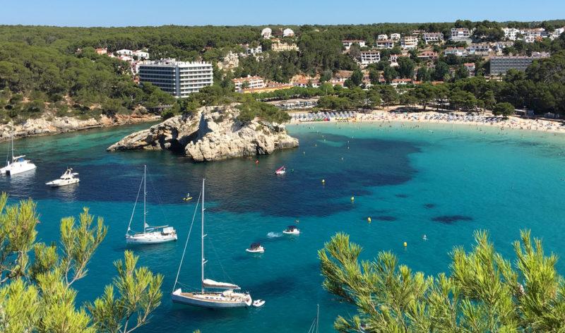 Cala Galdana, em Menorca.