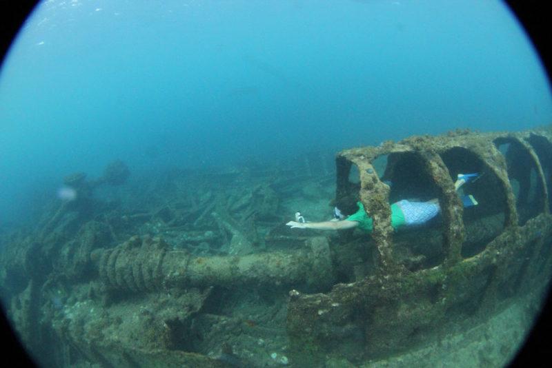 E a apneia dentro do naufrágio