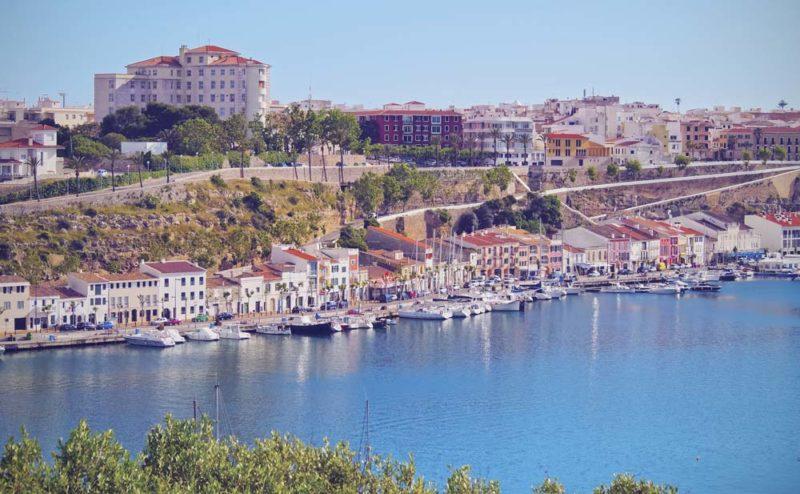 Mahon, capital de Menorca.