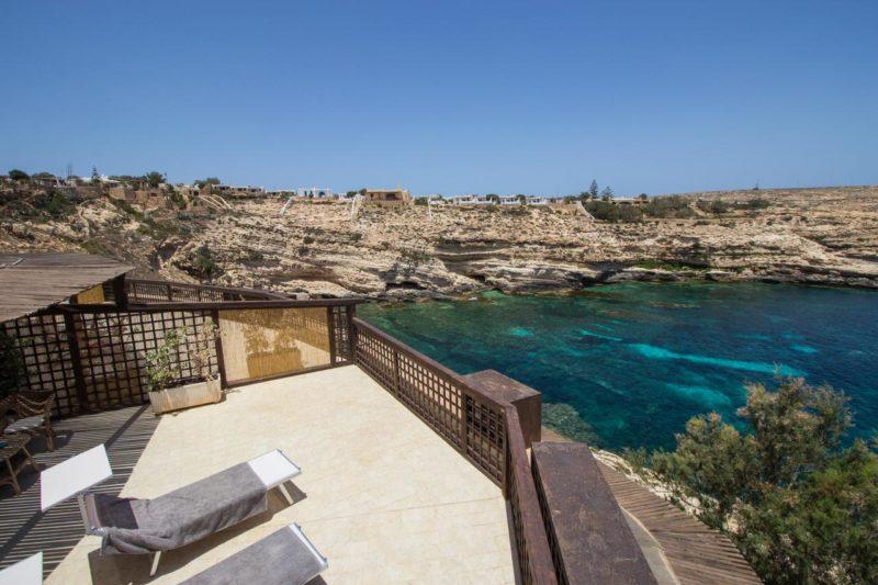 Onde ficar em Lampedusa: vista do Relais Isole del Sud.