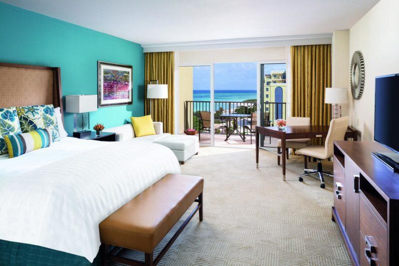 Onde ficar nas Ilhas do Caribe: Vista do quarto do Ritz, em Aruba.