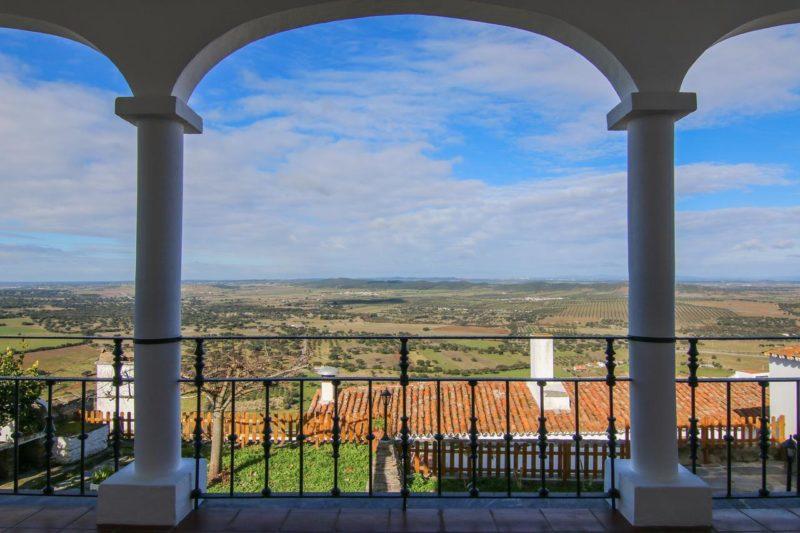 Vista da Pousada Dom Nuno, em Monsaraz.
