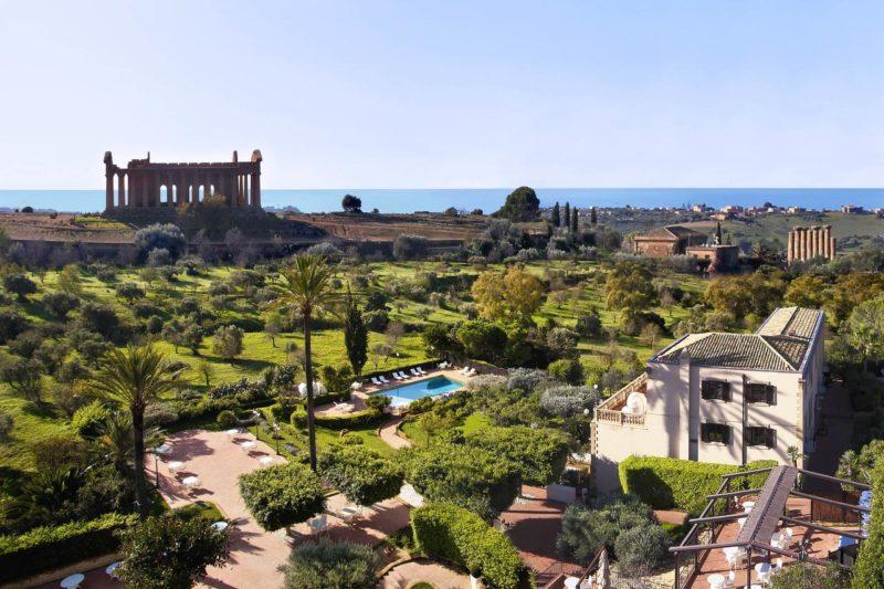 Hospedagem na Sicília: acomodação do Hotel Villa Athena, em Agrigento.