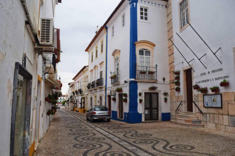 Ruas de Vila Viçosa, em Portugal.
