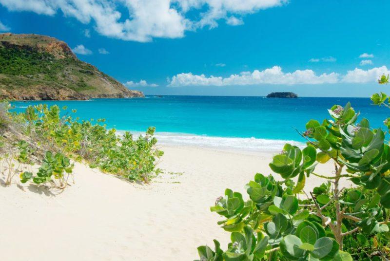 Para onde ir no Caribe em Janeiro: a linda Salinas Beach, em St. Barth.