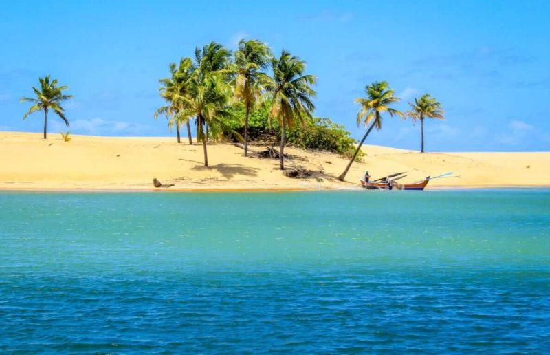 Fevereiro onde ir: formações de banco de areia na foz do Rio São Francisco.