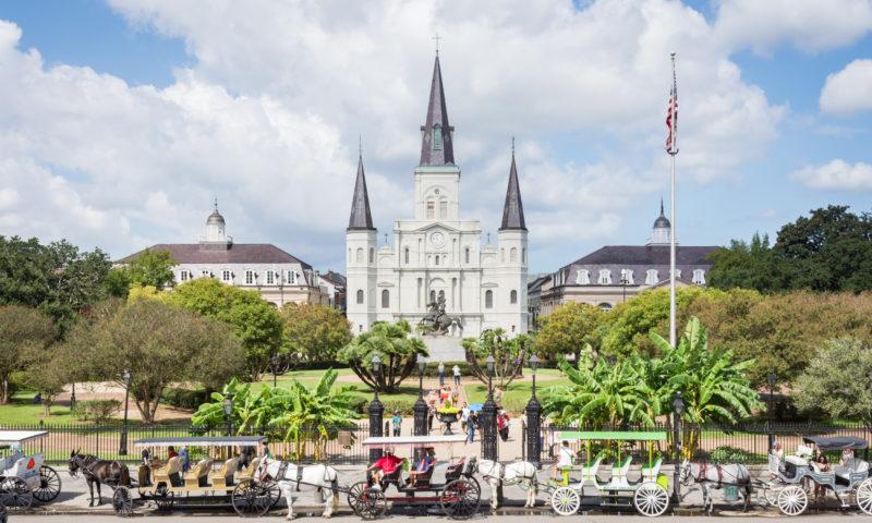 Dicas de viagem em fevereiro: a Catedral de Nova Orleans.
