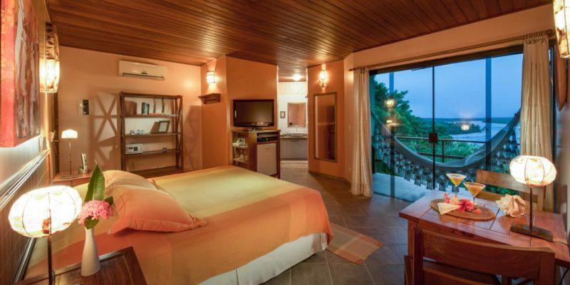 Hotéis em Boipeba: quarto da Pousada Mangabeira.