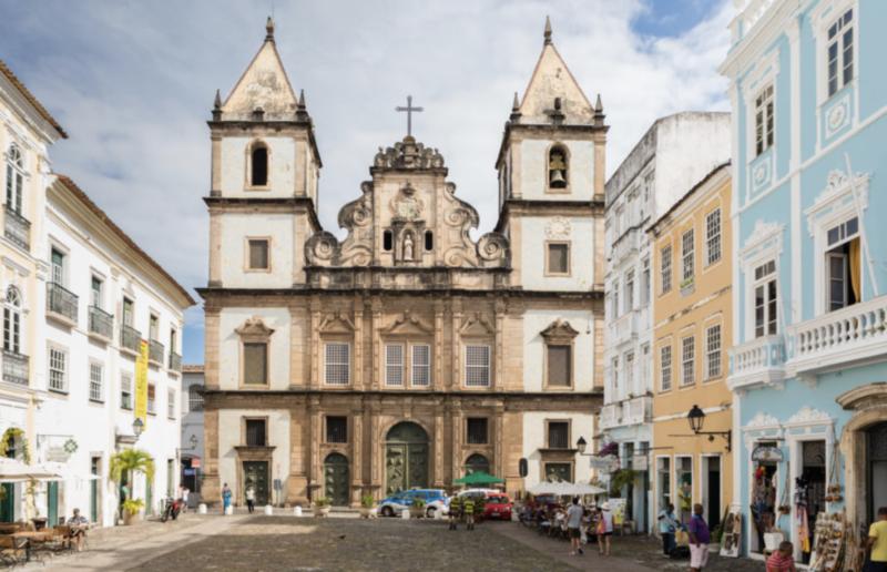 Viagens de carro pelo Brasil depois do Coronavírus: Igreja de São Francisco, em Salvador.