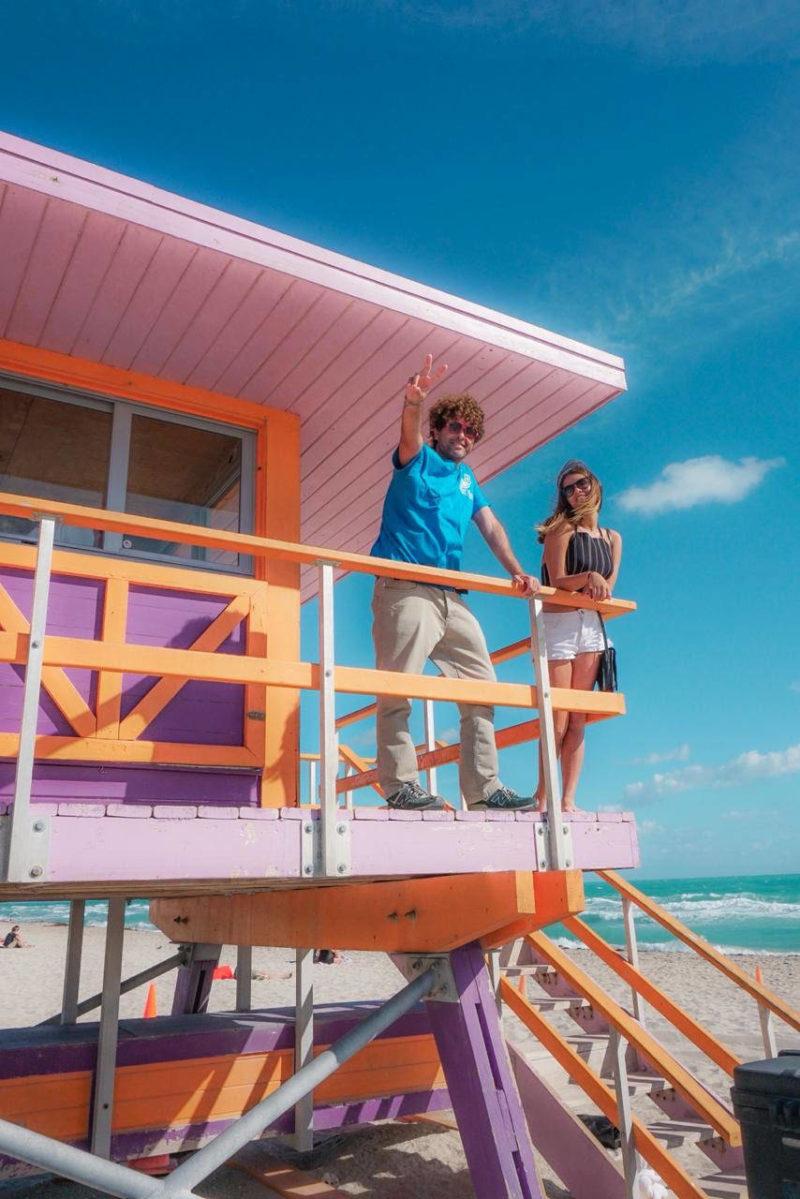 Flórida dicas: família reunida em South Beach, Miami.