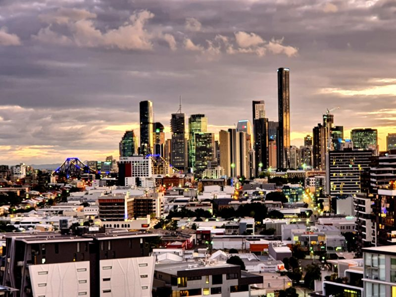 Brisbane da janela de Robyn Trevarthen